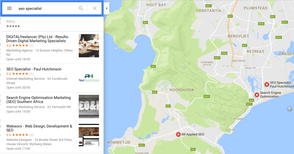 Google Maps Search