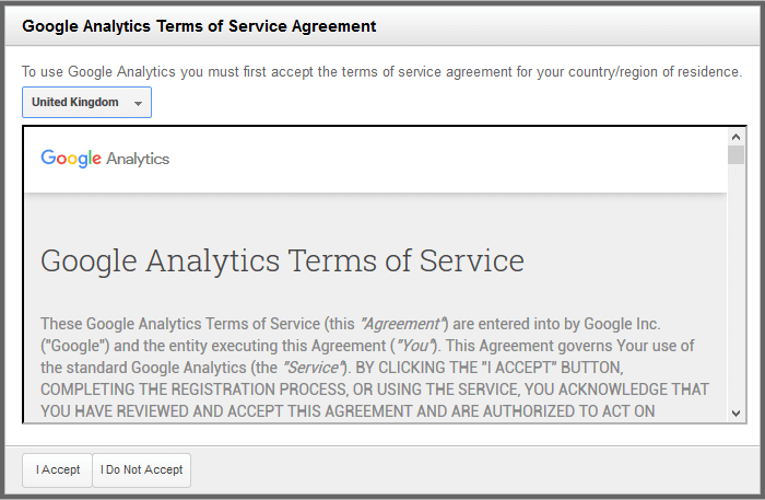 Google Analytics Terms Conditions